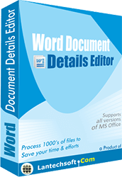 Word Document Properties Editor