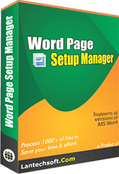 Batch Word Files Page Setup