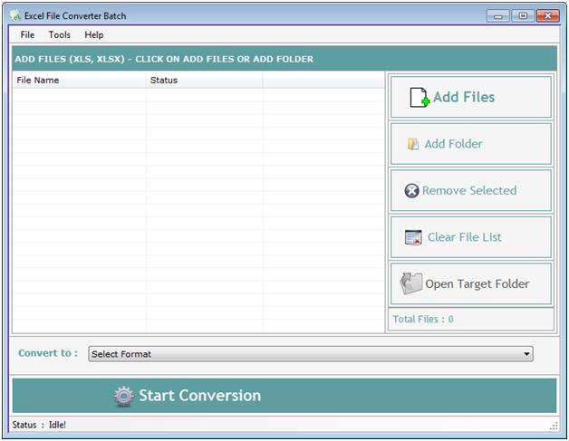 Windows 7 Excel File Converter Batch 4.1.2.6 full