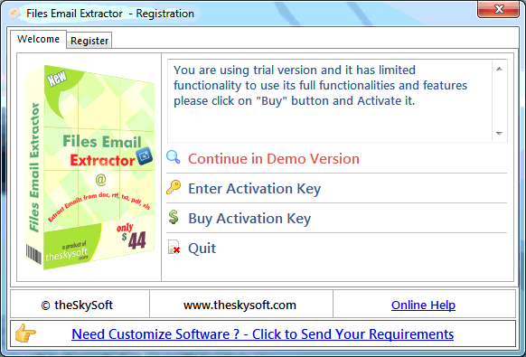 activation key for web email extractor pro