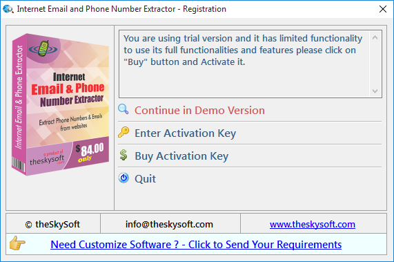Internet Email and Phone Number Extractor