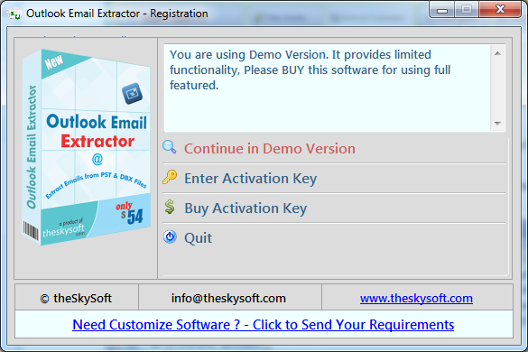 generate license key of email extractor 14