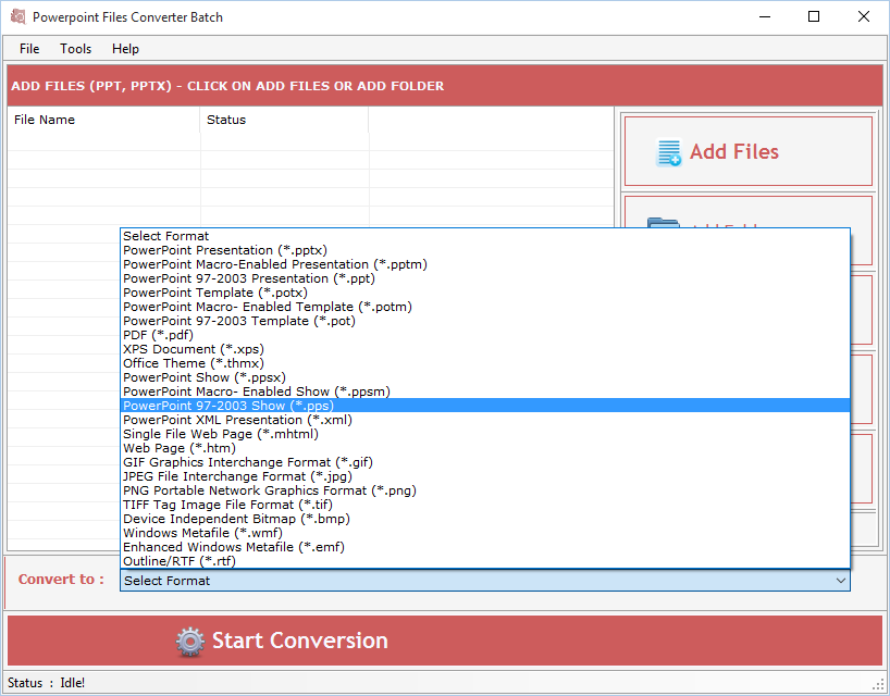 Power Point File Converter