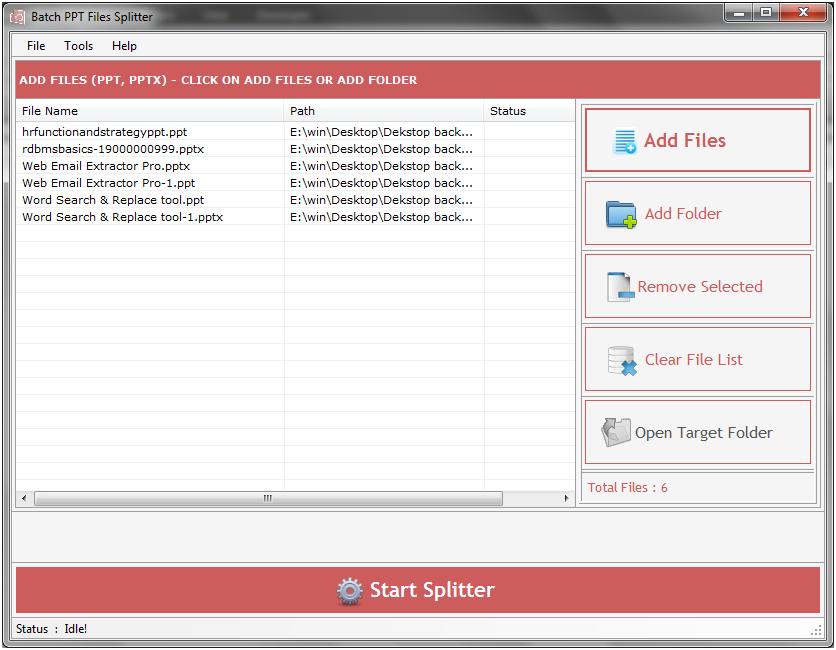Batch PPT Files Splitter 2.5.0.11 full